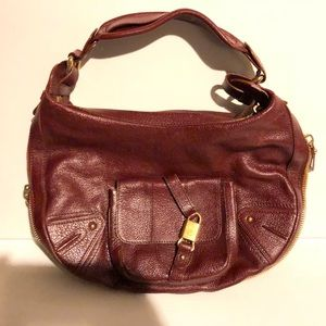 Marc Jacobs Vintage Red Leather Hobo Bag!